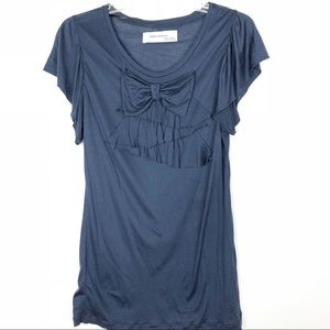 Zara Collection | Navy Bow in Front Top